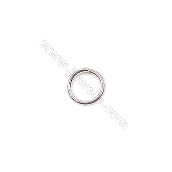 Fashion jewelry accessories wholesale sterling silver jump ring 1x8mm 100pcs/pack