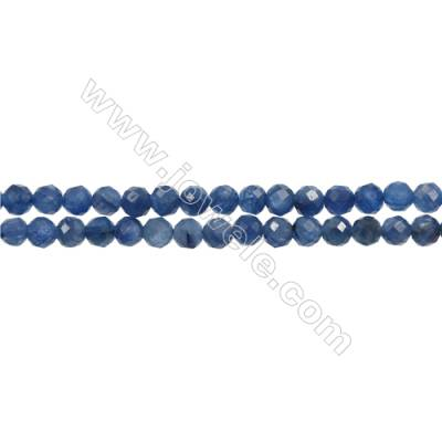 "Natural Kyanite Bead Strands  Round(Faceted)  Diameter 4mm  Hole 0.7mm  15~16""/strand"