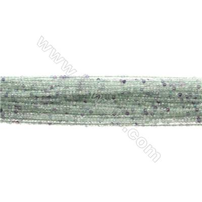 "Natural Fluorite Bead Strands  Round(Faceted)  Diameter 2mm  Hole 0.3mm  15~16""/strand"