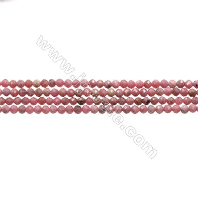 "Natural Rhodonite Bead Strands  Round(Faceted)  Diameter 3mm  Hole 0.45mm  15~16""/strand"