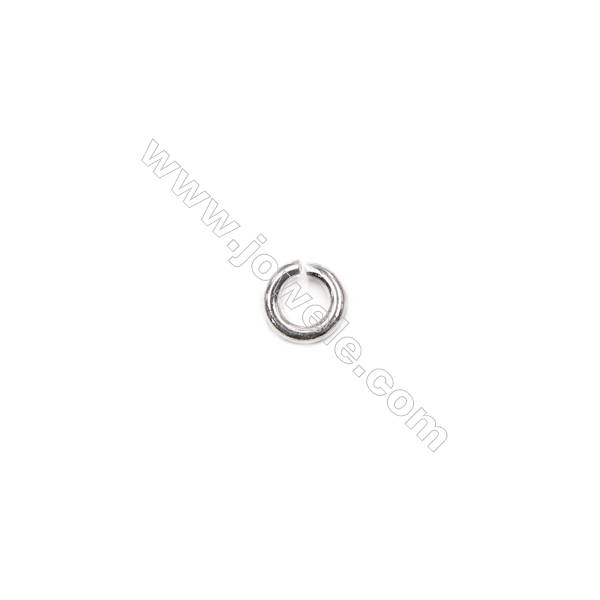 200pcs/pack sterling silver jump rings open ring for DIY jewelry making  0.9x4mm