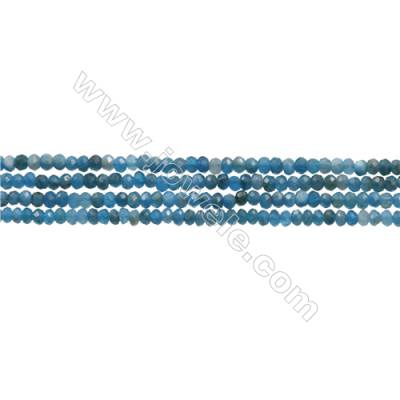 "Natural Apatite Beads Strand  Faceted Abacus  Size 2x3mm  hole 0.6mm  15~16""/strand"