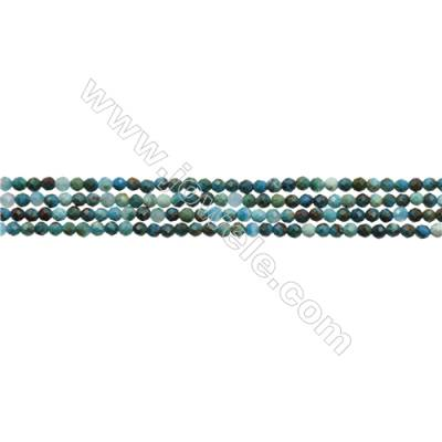 """Natural Chrysocolla Bead Strands  Round(Faceted)  Diameter 2mm  Hole 0.3mm  15~16""""/strand"""