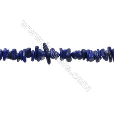 "Natural Lapis Lazuli Bead Strands  Irregular  Size 4~11x2~4mm  Hole 0.3mm  15~16""/strand"