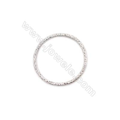 Wholesale jewelry accessories 925 sterling silver flat closed soldered jump ring  24x1.2x0.9mm 10pcs/pack