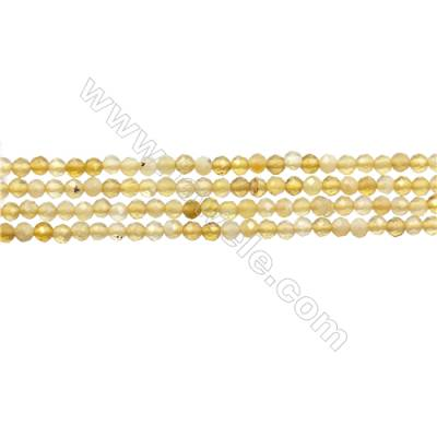 "Yellow Opal Bead Strands  Round(Faceted)  Diameter 2mm  Hole 0.3mm  15~16""/strand"