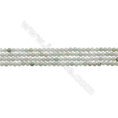 "Natural Myanmar Jade Bead Strands  Round(Faceted)  Diameter 2mm  Hole 0.3mm  15~16""/strand"