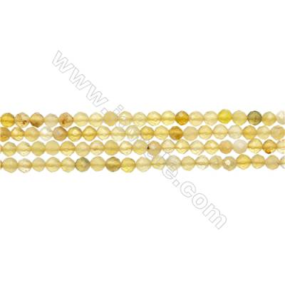 "Yellow Opal Bead Strands  Round(Faceted)  Diameter 3mm  Hole 0.3mm  15~16""/strand"