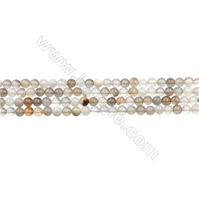 "Natural Botswana Agate Bead Strands  Round  Diameter 3mm  Hole 0.3mm  15~16""/strand"