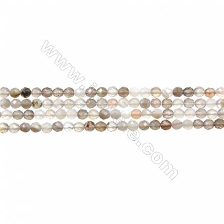 "Natural Botswana Agate Bead Strands  Round(Faceted)  Diameter 3mm  Hole 0.3mm  15~16""/strand"