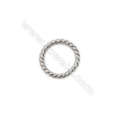 Wholesale jewelry findings 925 st silver twisted closed jump ring 1x8mm 50pcs/pack