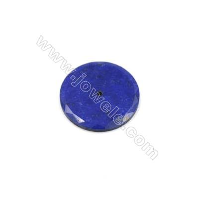 Natural Lapis Lazuli Gemstone Cabochons  Coin  Size 25mm  5pcs/pack