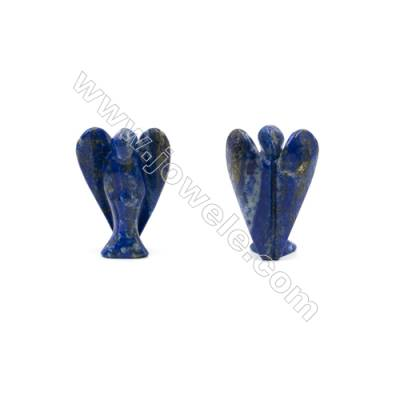 Natural Gemstone Angel Carvings  Lapis Lazuli Carved  Size 30x40mm  25pcs/pack
