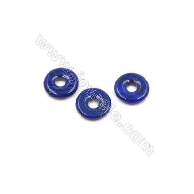 Natural Lapis Lazuli Gemstone Pendant Accessory  Annulus  Size 8mm  Hole 3mm  20pcs/pack