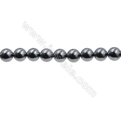 "Synthesis Terahertz Artificial Ore Beads Strands  Round  Diameter 10mm  Hole 0.8mm  15~16""/strand"