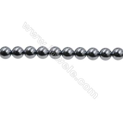 "Synthesis Terahertz Artificial Ore Beads Strands  Round  Diameter 8mm  Hole 0.7mm  15~16""/strand"