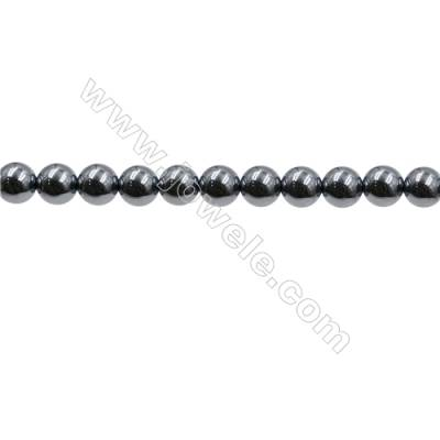 "Synthesis Terahertz Artificial Ore Beads Strands  Round  Diameter 6mm  Hole 0.6mm  15~16""/strand"