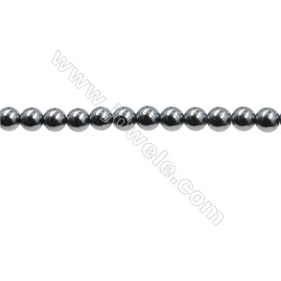 "Synthesis Terahertz Artificial Ore Beads Strands  Round  Diameter 4mm  Hole 0.45mm  15~16""/strand"