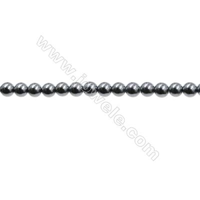 "Synthesis Terahertz Artificial Ore Beads Strands  Round  Diameter 3mm  Hole 0.4mm  15~16""/strand"