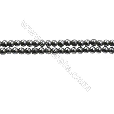 "Synthesis Terahertz Artificial Ore Beads Strands  Round  Diameter 2mm  Hole 0.3mm  15~16""/strand"