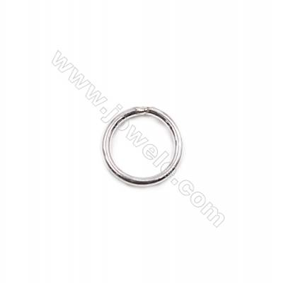 925 sterling silver closed jump ring DIY bracelet necklace jewelry making  size 0.8x5mm 100pcs/pack