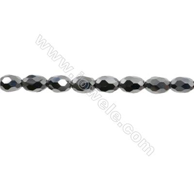 "Synthesis Terahertz Artificial Ore Beads Strands  Oval(Faceted)  Size 9x12mm  Hole 0.8mm  15~16""/strand"
