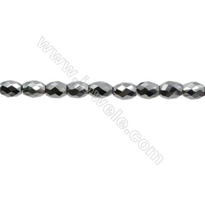 "Synthesis Terahertz Artificial Ore Beads Strands  Oval(Faceted)  Size 6x8mm  Hole 0.6mm  15~16""/strand"