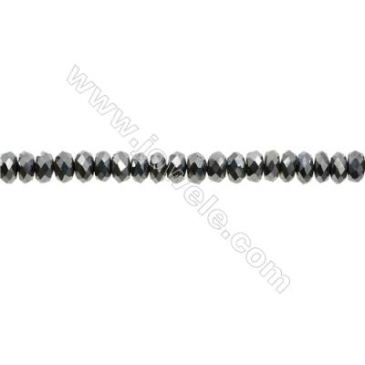 "Synthesis Terahertz Artificial Ore Beads Strands  Abacus(Faceted)  Size 4x6mm  Hole 0.6mm  15~16""/strand"