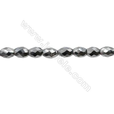 "Synthesis Terahertz Artificial Ore Beads Strands  Oval(Faceted)  Size 5x7mm  Hole 0.6mm  15~16""/strand"