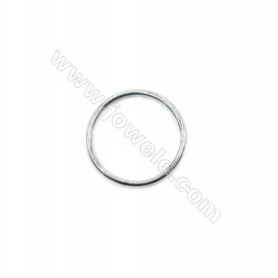 925 sterling silver closed jump ring for jewelry making  size 1x14mm 30pcs/pack