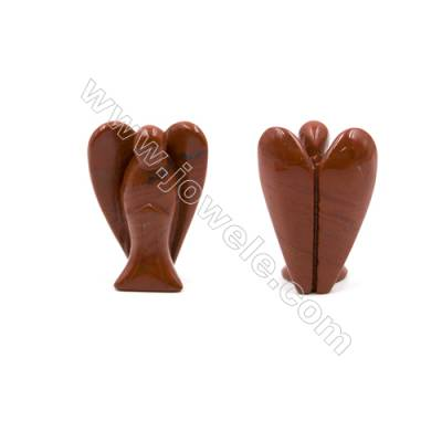 Natural Gemstone Angel Carvings  (Red Jasper Golden Swan Unakite and other 13kinds of gemstones)Carved  Size 30x50mm  20pcs/pack