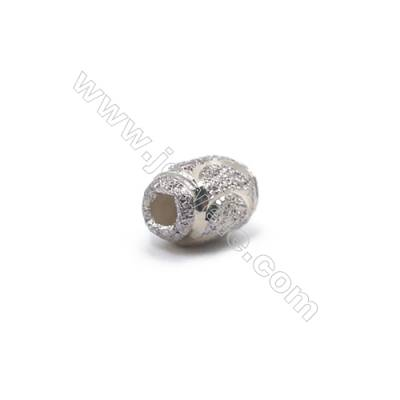 Laser cut 925 sterling silver oval spacer beads online supplies-L07S2 6.5x4.5mm hole 1.5mm 100pcs/pack