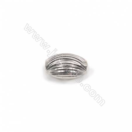 Laser cut 925 sterling silver oval spacer beads online supplies-L07S3 10x6mm hole 1.9mm 50pcs/pack
