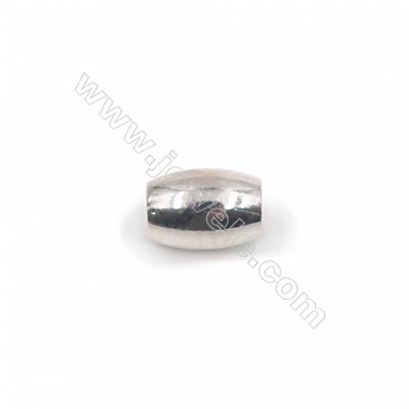 925 sterling silver oval spacer beads-L07S4 size 6x4mm hole 2mm 50pcs/pack