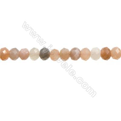 "Natural Multicolor Moonstone Bead Strands  Abacus(Faceted)  Size 5x8mm  Hole 1mm  15~16""/strand"