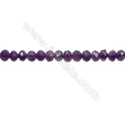"Natural Amethyst Bead Strands  Abacus(Faceted)  Size 4x6mm  Hole 1mm  15~16""/strand"