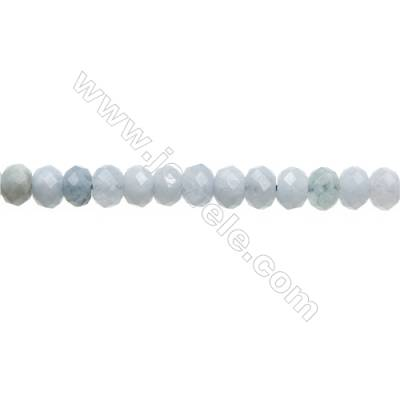 "Natural Aquamarine Bead Strands  Abacus(Faceted)  Size 5x8mm  Hole 1mm  15~16""/strand"