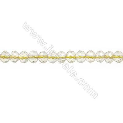 "Natural Lemon Quartz Beads Strands  Abacus(Faceted)  Size 5x6mm  Hole 1mm  15~16""/strand"