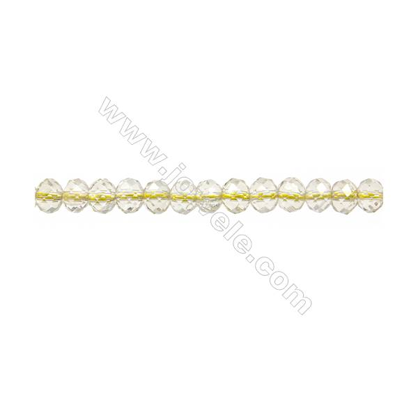 "Natural Lemon Quartz Beads Strands  Abacus(Faceted)  Size 5x6mm  Hole 1mm  15~16""/strand"