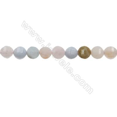 "Natural Morganite Bead Strands  Round(Faceted)  Diameter 8mm  Hole 1mm  15~16""/strand"
