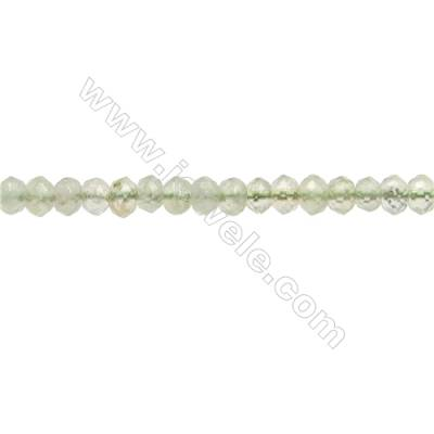 "Natural Prehnite Beads Strands  Abacus(Faceted)  Size 4x5mm  Hole 1mm  15~16""/strand"