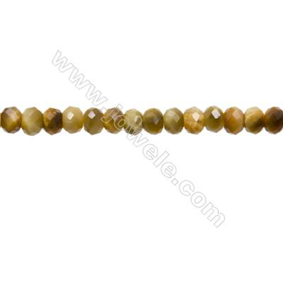 "Natural Golden Tiger's Eye Beads Strands  Abacus(Faceted)  Size 4x5mm  Hole 1mm  15~16""/strand"