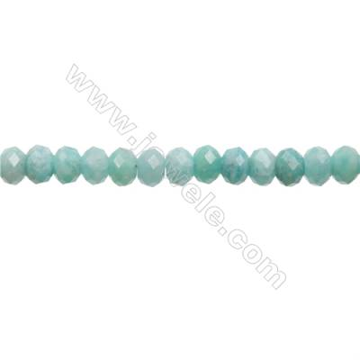 "Natural Amazonite Beads Strands  Abacus(Faceted)  Size 5x8mm  Hole 1mm  15~16""/strand"