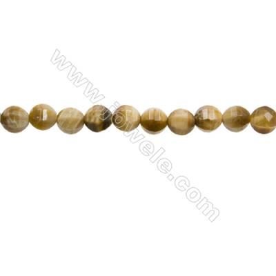 "Natural Golden Tiger's Eye Beads Strands  Round(Faceted)  Diameter 8mm  Hole 1mm  15~16""/strand"