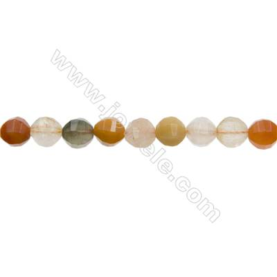 """Natural Mixed Gemstone Beads Strands  Round(Faceted)  Diameter 8mm  Hole 1mm  15~16""""/strand"""