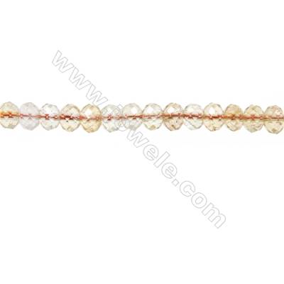 "Natural Citrine Beads Strands  Abacus(Faceted)  Size 5x6mm  Hole 1mm  15~16""/strand"