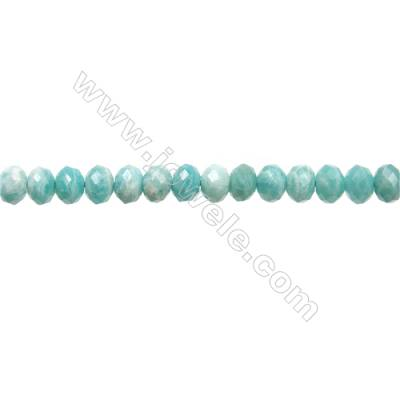 "Natural Amazonite Beads Strands  Abacus(Faceted)  Size 4x6mm  Hole 1mm  15~16""/strand"