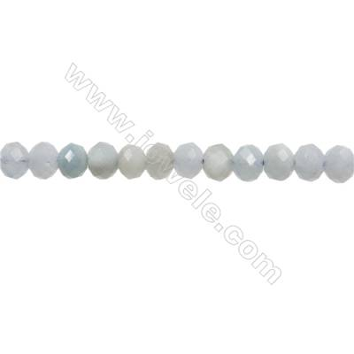 "Natural Aquamarine Beads Strands  Abacus(Faceted)  Size 4x6mm  Hole 1mm  15~16""/strand"
