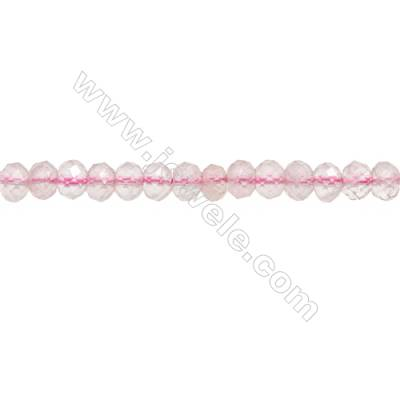 "Natural Rose Quartz Beads Strands  Abacus(Faceted)  Size 4x6mm  Hole 1mm  15~16""/strand"