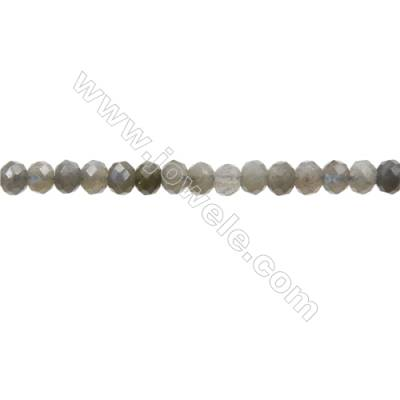 "Natural Labradorite Beads Strands  Abacus(Faceted)  Size 4x6mm  Hole 1mm  15~16""/strand"
